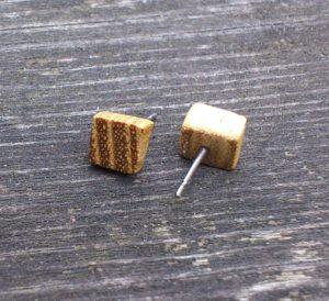 Ohrstecker aus Robinie mit Steckern aus Titan